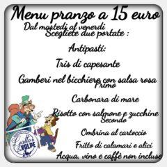 menu pranzo