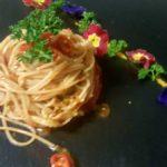 spaghetto integrale con aglio, olio peperoncino e tonno