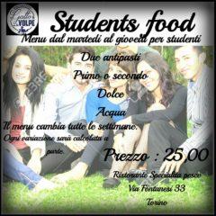 menu studenti