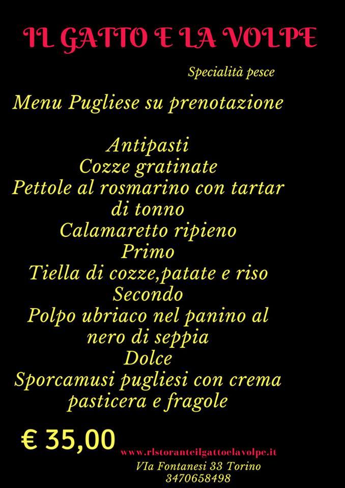menu pugliese