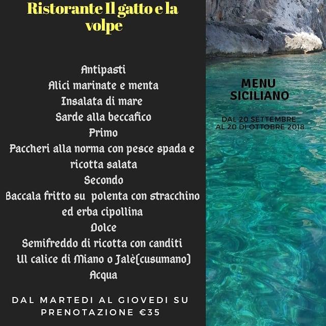 menu settembre 2018