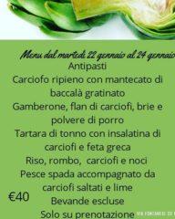 menu carciofi